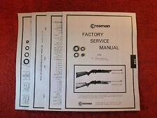 Crosman 760 Rifle (1966 to 1977) Seal Kit + Factory Manual + Parts List + Guide