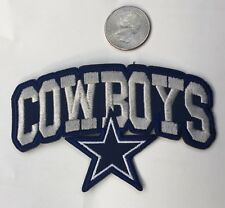 "Dallas Cowboys vintage embroidered iron on Patches 4""x 2 1/2"" Nice!!"