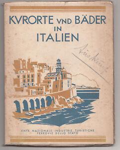Kurorte und Bäder in Italien um 1930 Reiseführer Reise Literatur Italia (H2