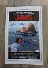 🔥 Jaws Movie Poster Photo Signed Richard Dryfuss Susan Backlinie Coa Jsa 11X17