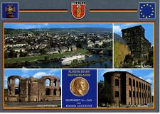 Postkarte Trier Fotokunst Schwalbe: M16 Panorama, Porta Nigra, Kaiserthermen ...