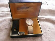 Vintage Gruen Precision 17 Jewels Day Date Watch with Original Box