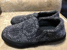 Men's Acorn Fave Gore Slippers Weatherproof, Charcoal Tweed, Size 7.5 - 8.5