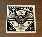 Shepard Fairey OBEY RECORDS Signed Numbered Screen Print 69/200 RARE