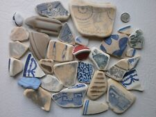 Old beach found  Victorian  mixed pottery ...for mosaics/crafts