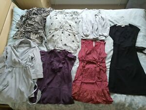 Maternity Clothes Bundle Size 8 Dress Shirt Tops Cardigan Blooming Marvellous...