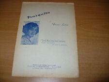 SPARTITO MUSICALE DELL'ALCOVA NEL TEPOR FRASQUITA FRANZ LEHAR 1922 BONGIOVANNI
