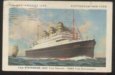 Postcard HOLLAND AMERICA LINE OCEANLINER T.S.S. STATENDAM Promo Ad 1920's