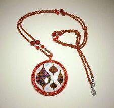 "New ListingTarina Tarantino ""Santa Clause"" collection Ornament necklace Swarovski"