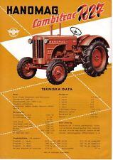 Hanomag Combitrac R27 Tractor original Sales Brochure In Swedish not dated
