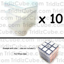 Lot of 10 Transparent Cube Puzzle Box for 57mm Cube 3x3x3 Travel 3x3 -US SELLER-