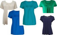 NEW LADIES M&S SCOOP NECK,7 PLEAT PINTUCK TOP BLOUSE.6,8,10,12,14,16,18,20,22,24