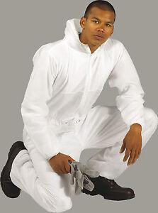 Portwest Disposable Boilersuit Boiler Suit White Large & XXL free post