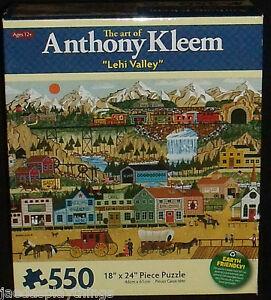 Anthony Kleem Puzzle LEHI VALLEY 550 Pc SEALED Karmin Vtg 2009 Train