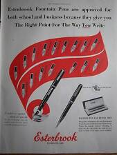 1948 ESTERBROOK Fountain Pen School & Business Ad