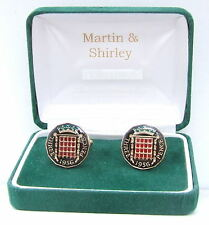 1956 Threepence cufflinks from real coins Black & Gold