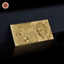 WR REGNO UNITO Sterline Banconote Puro Placcato Oro Great British Collezione