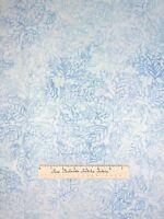 Batik Christmas Fabric Tonga Jack Frost Holly Leaf Blue Timeless Treasures YARD
