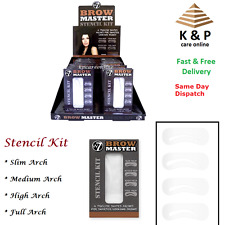 W7 Brow Master Eyebrow Stencil Kit Shaping Defining 4 Arch Make Up Templates