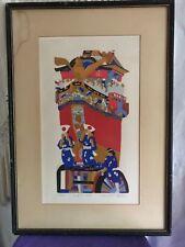 Silk screen print by Tanaka Masaaki