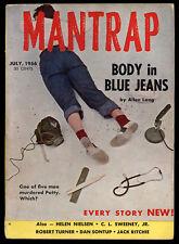 Mantrap V1 #1 July 1956 Mystery Pulp Digest Harry Whittington Glass Ailbi VG+