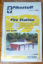 "Pikestuff #541-192 Fire Station -- Kit - Red 7 x 5-1/2"" 17.5 x 14cm"