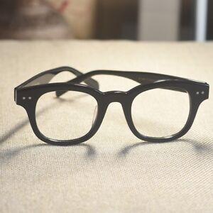 Retro Japan handmade solid acetate eyeglasses frame men black 1960's eye glasses