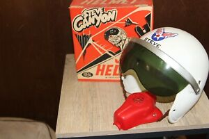Steve Canyon Jet Helmet Toy In Box (Ideal, 1959).