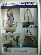 Simplicity Pattern 1387 Nautical Themed Bags in Assorted Sizes purses totes