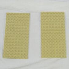 Lego lot of 2 tan beige sand  LEGO BASEPLATE 8x16 dot base board plate