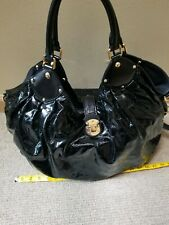 Louis Vuitton Mahina Surya black Patent Leather Handbag L Bag Purse Box