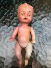Vintage Blue Box Toys Plastic Jointed Baby Doll w/ Sleepy Eyes made in Hong Kong