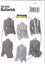 19th Century Victorian Boned Back Pleat Jackets Costume Sew Pattern 6 8 10 12 14