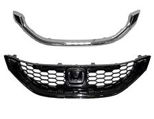 Grille w/Molding Fits 2013-2015 Honda Civic Sedan EX Models HO1200218/HO1202109