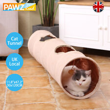 120X25CM Pet Cat Kitten Tunnel Suede Tube Play Activity Collapsible Toy