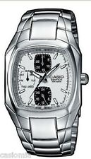 Casio Edifice EF315D-7A Mens Stainless Steel 3-Dial White Dial Dress Watch 100M