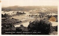 California Ca Postcard Real Photo RPPC c1940s SEARSVILLE LAKE Observation Point