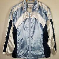 Satin Jacket Carolina Colors Blue White Womens Sz S Bomber Varsity