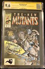 New Mutants #63 CGC 9.6 signed X4 Claremont Simonson Potts - Kitty Pride