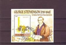 a120 - MALAWI - 2006 NH/CTO MINIATURE SHEET STEAM RAILWAYS - GEORGE STEPHENSON