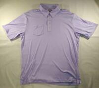 Adidas Climacool Men's Size L Purple Short Sleeve Collared Golf Shirt