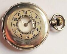 """Orig. """"W&D"""" Rolex Half Hunter Sterling Silber 925 Offiziers Taschen Uhr WK1 1914"""