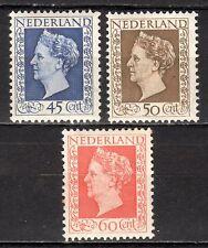 Netherlands - 1948 Definitives Wilhelmina Mi. 500-02 MH