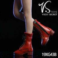 VSTOYS 19XG43B 1/6 Female Red Zipper Boots Shoes Model Fit 12'' Figure Body