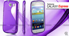 PURPLE S CURVE GEL CASE COVER F SAMSUNG Galaxy Express i8730