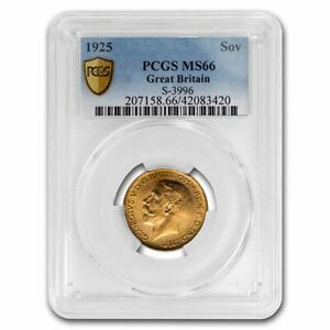 1925 Great Britain Gold Sovereign George V MS-66 PCGS - SKU#233521