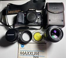 Minolta Maxxum 7000 35mm Film Camera SLR w/70mm & 200mm Lenses