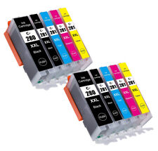 Color Ink  Cartridges + chip for 280XXL 281XXL Canon PIXMA TR7520 TR8520 TS6120