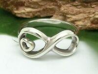 Unendlichkeit 925 Sterling Silberring Infinity Love Freundschaft Silber Ring