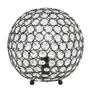 10 in. Restoration Bronze Crystal Ball Sequin Table Lamp by Elegant Designs
